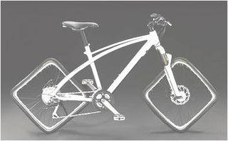 Bici ruedas cuadradas