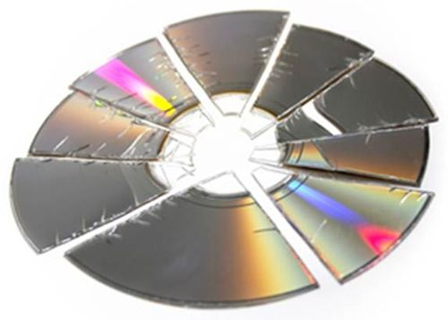 Crushed cd