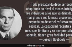 Joseph Goebbles sobre propaganda