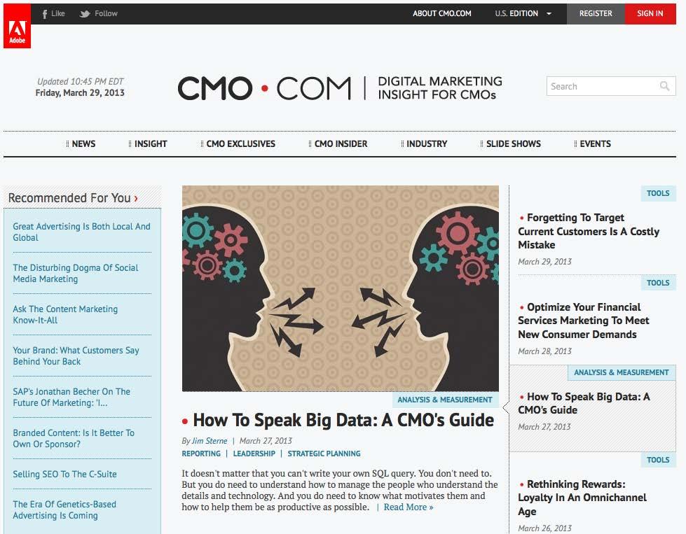 home page de cmo.com