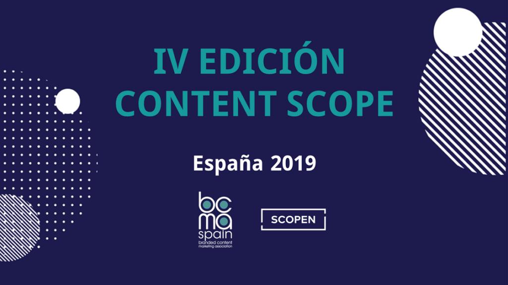 Branded Content en España: Content Scope 2019