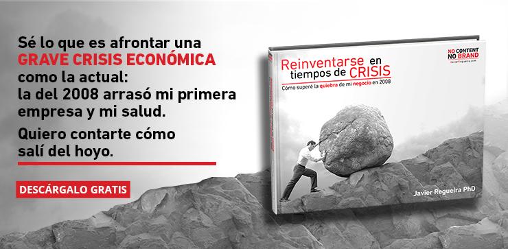 Ebook, Reinventarse en tiempos de crisis, Javier Regueira